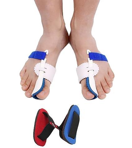 Corrector de juanetes, 2pcs ajustable Velcro férula Protector mangas Kit de dedos para martillo de sastre ...