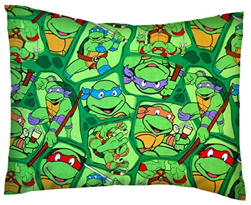 SheetWorld Crib / Toddler Percale Baby Pillow Case - Ninja Turtles - Made In USA ()