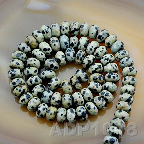 AD Beads 4x6mm & 5x8mm Faceted Natural Gemstone Rondelle Spacer Loose Beads Strand 15.5