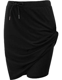 c81d845b3cb4c JACK SMITH Women's Athletic Skort Drawstring Waist Stretchy Knitting Skirts  with Pockets