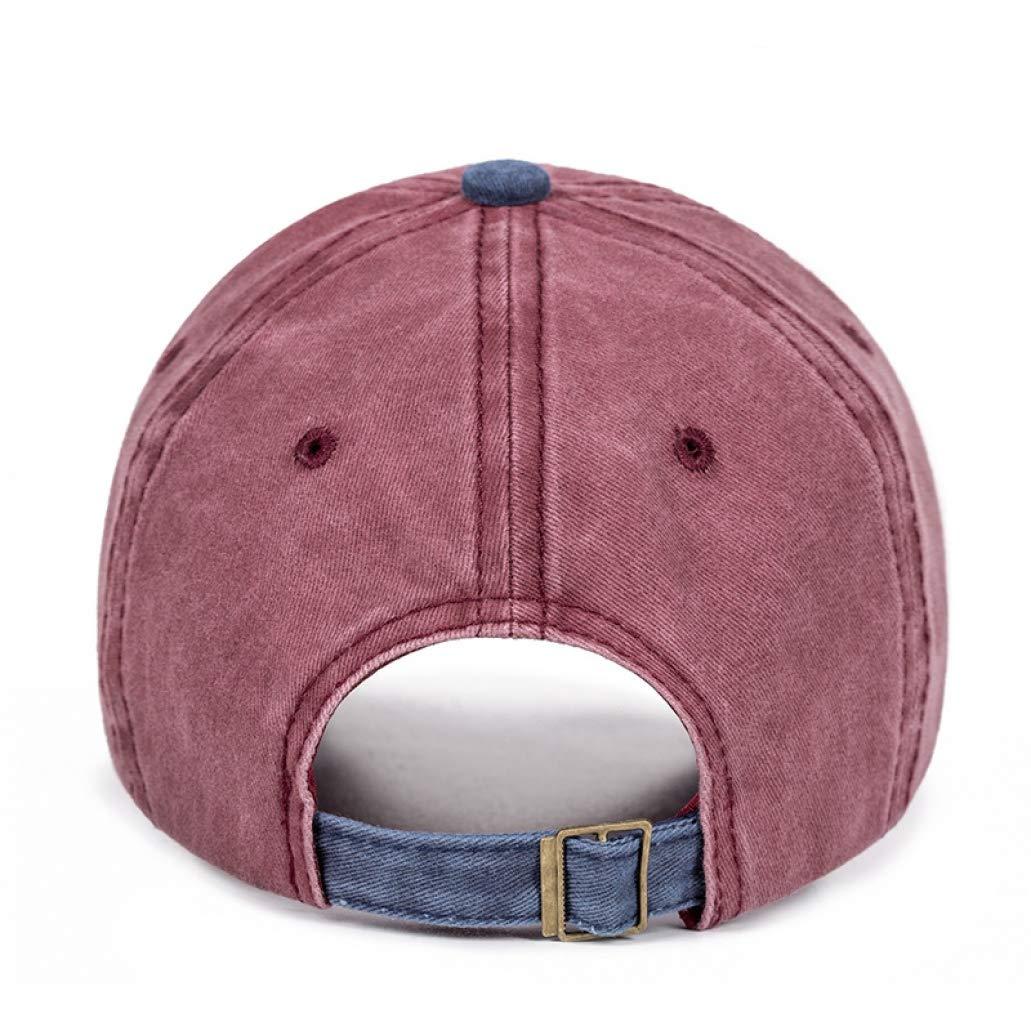 New Washed Baseball Cap Men Korean Version of The Outdoor Sunshade Hat Casual Color Matching Baseball Cap
