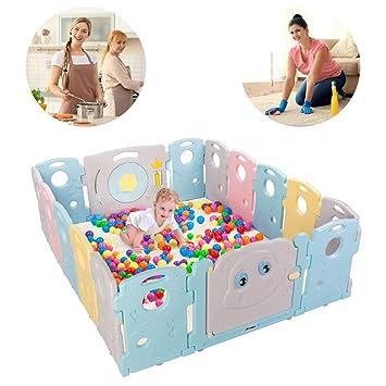 Kids Garden Play Pen Safety Baby Plastic Fence Yard Indoor Kid Home Divider Toy