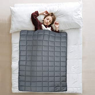 #14 JOLLYVOGUE Weighted Blanket for Kids(5lbs,36x48Inches),Heavy Kids Bed Blanket with