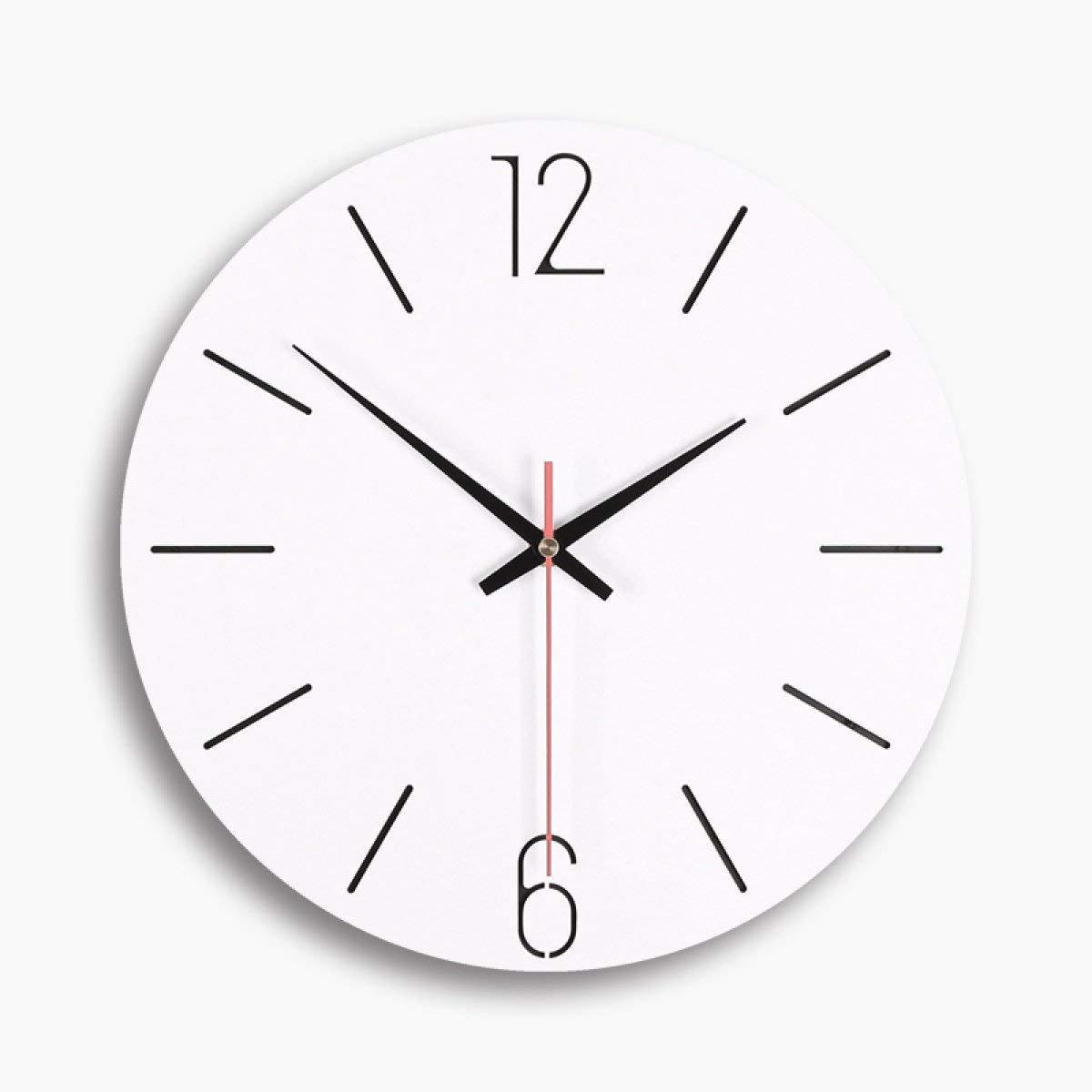 Reducción de precio Mings Hermosa y Practica Reloj de Pared Reloj de la Sala Dormitorio Simple Reloj de Pared silencioso, WoodcolorC-13.8  13.8  0.2in ( Color : 13.813.80.2in Woodcolorb )