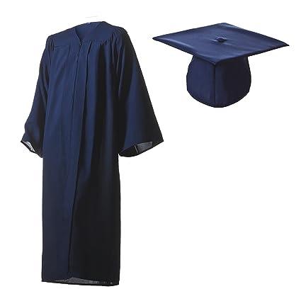 Amazoncom Graduation Cap And Gown Set Matte Navy Blue In Multiple