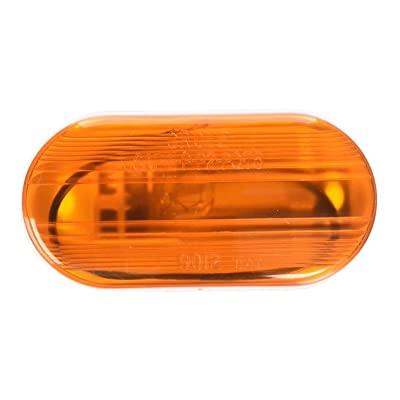 Grote 46703 Yellow Single-Bulb Oval Clearance Marker Light (Optic Lens): Automotive