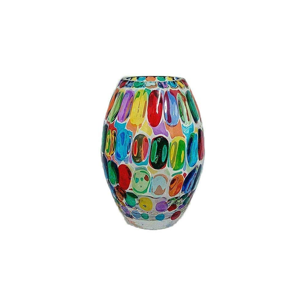 Vase Bubble 200 Glass Hand painted Murano Style Venezia