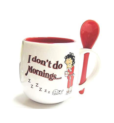Amazon.com: Betty Boop – Taza con cuchara