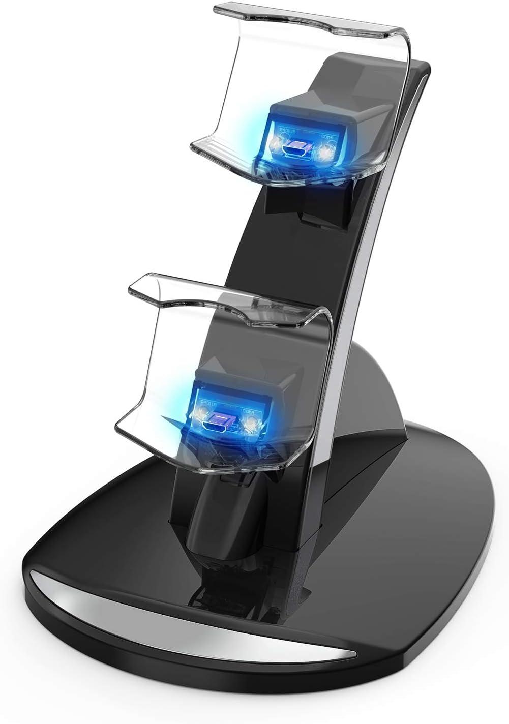 Amazon.com: PS4 - Cargador inalámbrico doble USB PS4 con ...