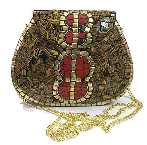 honda embrague bolso las Trend metal bolsos Tiger embrague étnico bolso la la bolso de mosaico del bolso embrague vendimia del de de de mujeres vtvw8dqf
