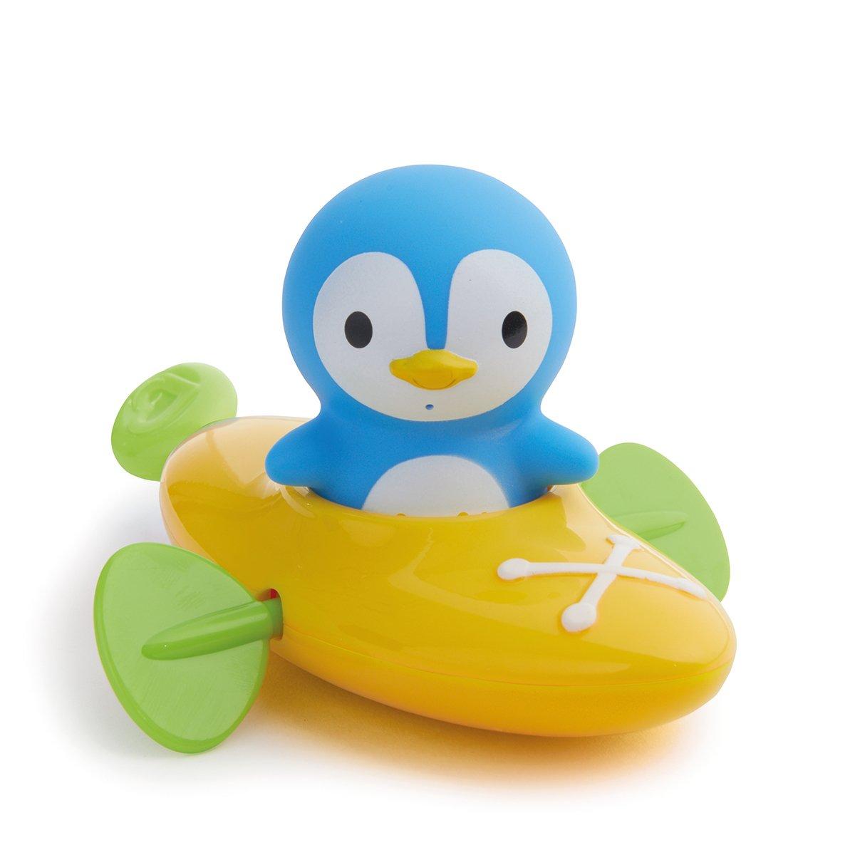 Munchkin - Paddlin Penguin, Aufziehboot mit Pinguin-Spritztier Badespielzeugset Munchkin Asia Limited 01101102WWW