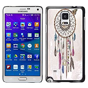 Dragon Case - FOR Samsung Galaxy Note 4 - Live a noble - Caja protectora de pl??stico duro de la cubierta Dise?¡Ào Slim Fit