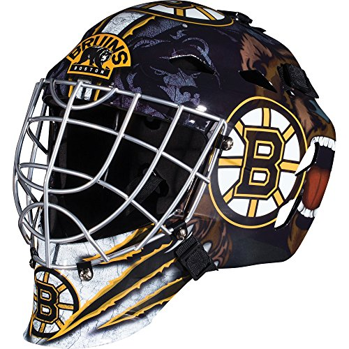 Stick Goalkeeper - Franklin Sports Boston Bruins Goalie Mask - Team Graphic Goalie Face Mask - GFM1500 Only for Ball & Street - NHL Official Licensed Product
