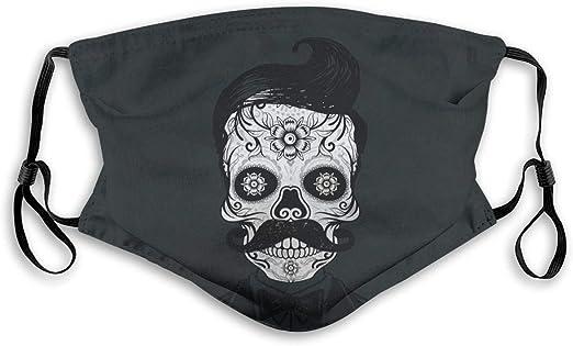 GABRI Mundschutz Gesichtsschutz Farbbalken im zeitgen/össischen Stil mit Pinseleffekten auf schwarzem Hintergrund Antistaub Waschbar und Wiederverwendbar Bandana mit Filtern