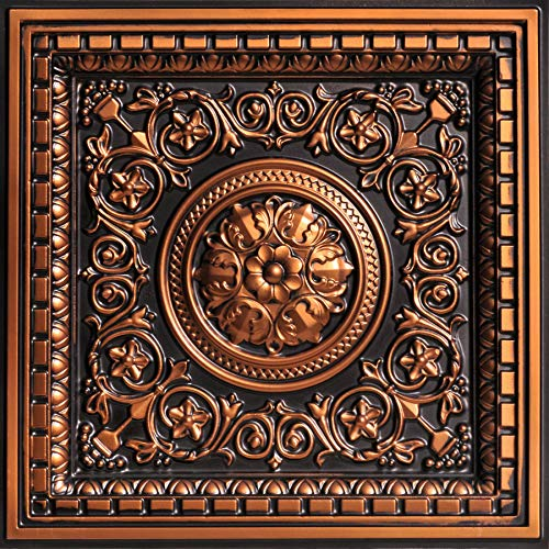 From Plain To Beautiful In Hours VC02ac-24x24-25 Rhine Valley Ceiling Tile Antique Copper 25 by From Plain To Beautiful In Hours (Image #2)