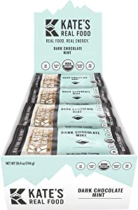 Kate's Real Food Mint Bars - 12-Pack Dark Chocolate Mint, One Size