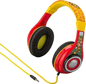 Mickey Mouse Mouska-riffic Disney Junior Kid Friendly Volume Reduced Youth Stereo Headphones