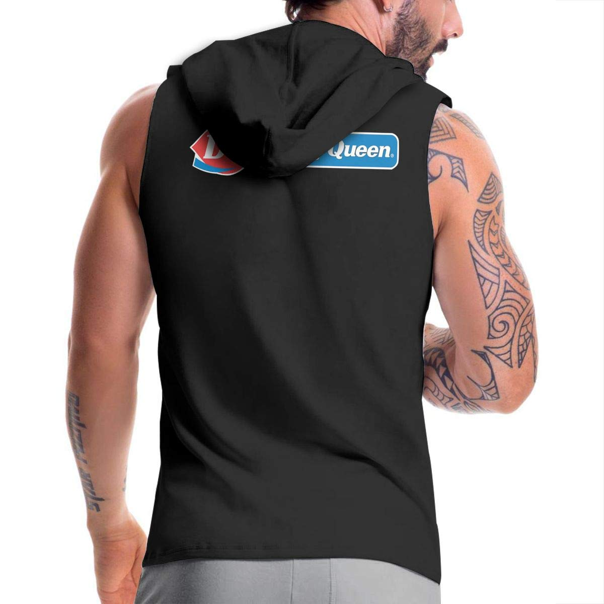 Kinggo Personalized Mens with Hood Pocket Dairy-Queen-New-Logo-and-Font-touchup-shadowPING Classic Zipper Suit