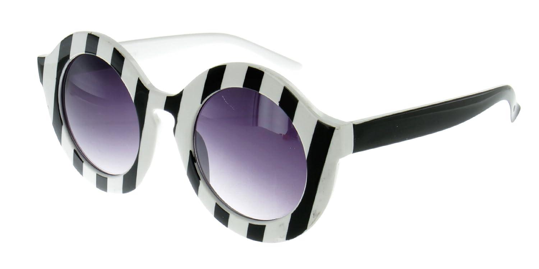 """Pop Art"" Round Keyhole Retro Fashion Sunglasses for Stylish Women"
