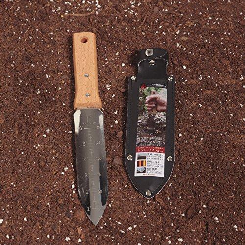 """Nisaku NJP650 7.25"""" Blade Hori-Hori Stainless Steel Tomita Weeding Knife"""