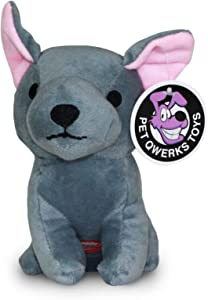 Pet Qwerks Dog Squeak Toys - Fun Interactive Squeaky Plush Pet Toy | with Cute Funny Sounds to keep boredom at bay - Choose from Various Animal Characters