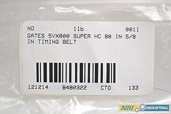 Gates 5V800 Super Hc 80in 5//8in V-belt