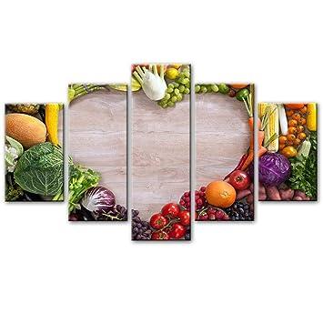 Bzdmly 5 Pannelli realistici Quadri modulari per Cucina ...