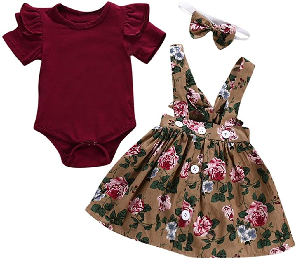 New Fashion  Infant Kid Baby Girls Clothing Floral Bowknot Summer Dresses Skirts