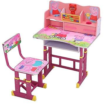 Amazon.com: Juego de sillas de escritorio para niños, altura ...