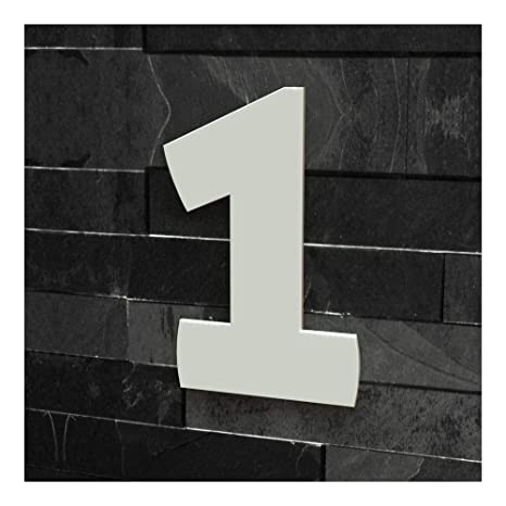 Edelstahl viele Farben w/ählbar 9 , 20 cm Colours-Manufaktur Hausnummer Nr H/öhe: 20-30 cm Schriftart: Modern geb/ürstet