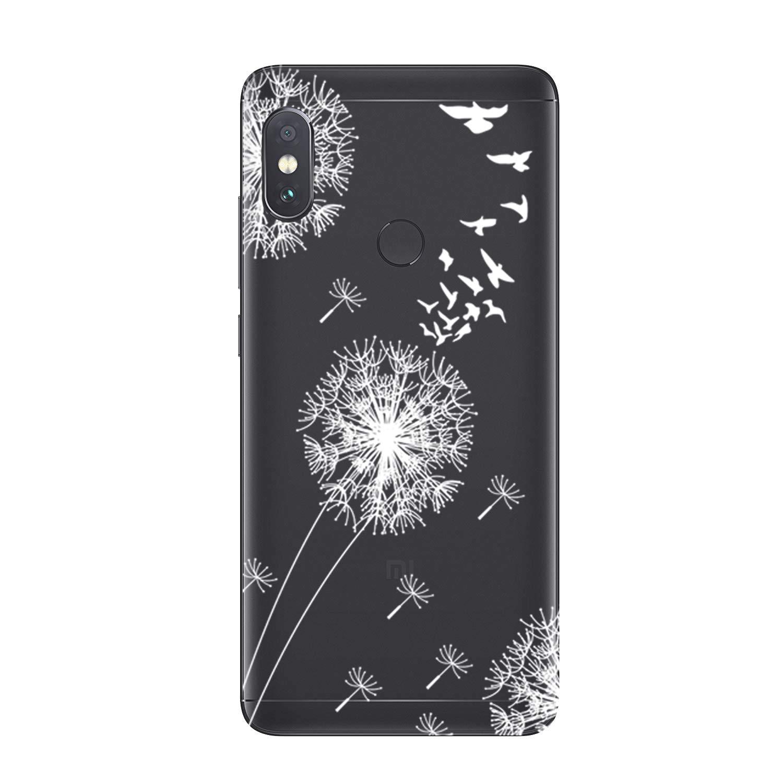 Bleu Blanc Note 5 Pro HopMore 3X Coque Xiaomi Note 5 Transparente Motif Swag Silicone Souple Etui Coques Redmi Note 5 Antichoc Ultra Mince Fine Gel Bumper Case /Étui Housse pour Fille Femme