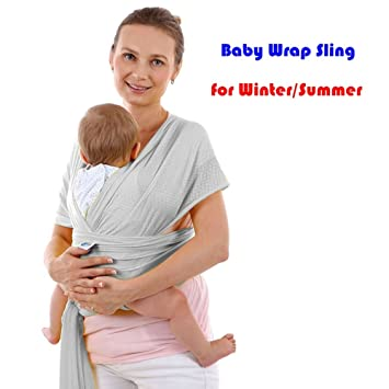 Amazon Com Baby Wrap Carrier For Newborns Infants Soft Comfortable