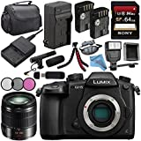 Panasonic Lumix DC-GH5 DC-GH5KBODY Mirrorless Micro Four Thirds Digital Camera + Lumix G Vario 14-140mm O.I.S. Lens + Battery + Charger + Sony 64GB SDXC Card + Carrying Case + Tripod + Flash Bundle