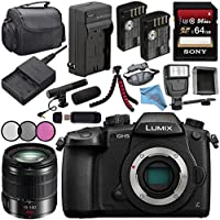 Panasonic Lumix DC-GH5S Mirrorless Micro Four Thirds Digital Camera + Panasonic Lumix G 25mm f/1.7 ASPH. Lens + DMW-BLF19 Lithium Ion Battery + 128GB SDXC Card Bundle