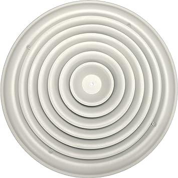 Speedi Grille SG RCR 14 14 Inch Round White Ceiling Air Vent Register