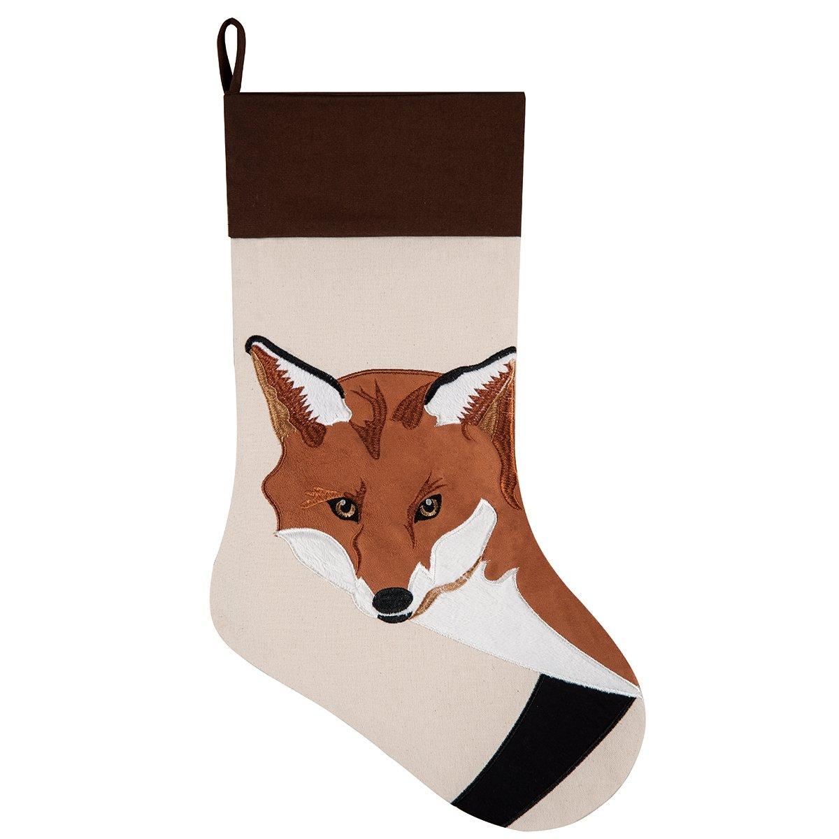 8.5x20'' Christmas Stocking, Fox