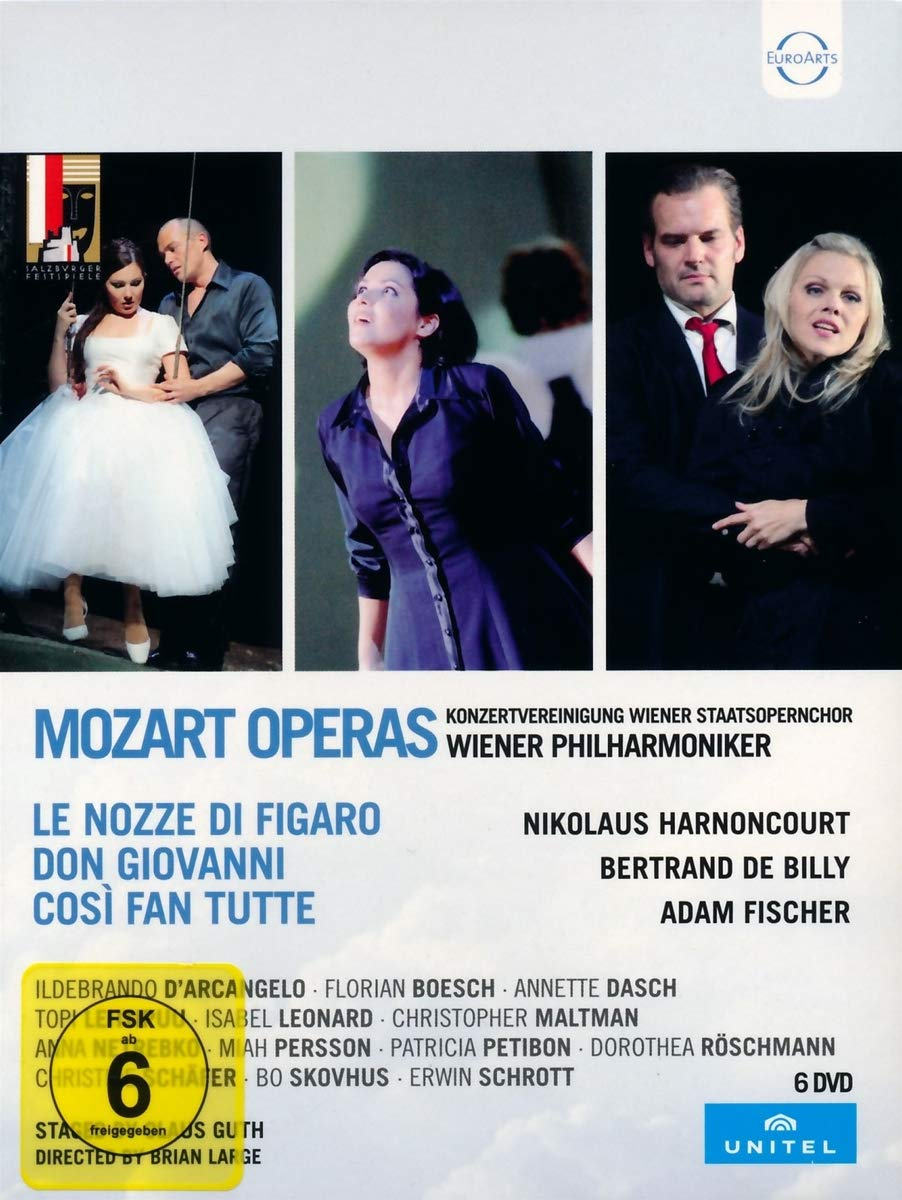 DVD : WOLFGANG AMADEUS MOZART, CLAUS GUTH - Mozart: Le Nozze Di Figaro /  Don Giovanni /  Cosi Fan Tutte (DVD)