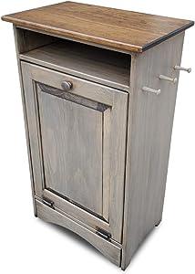 Peaceful Valley Pet Feeder Station | Dog or Cat Food Bowls | Amish Furniture Tilt Out Storage Cabinet