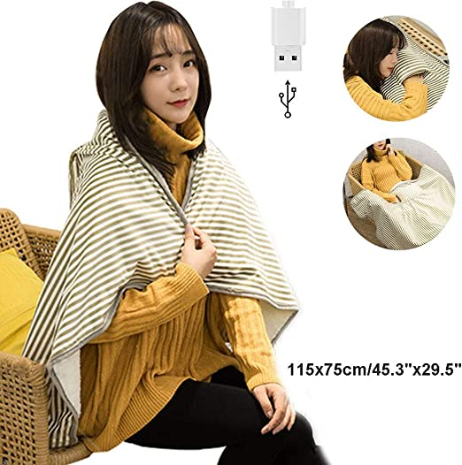 USB Heating Pad Cushion Heated Blanket Heating Pad Electric Warm Soft Flannel Heated Pad Winter Heating Blanket Electric Blanket For The Uses Of During Winter Season At Home Office Use
