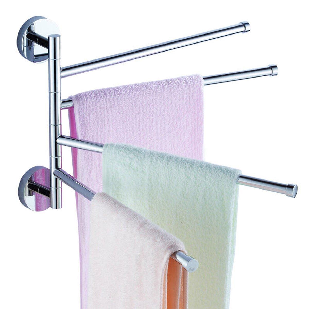 Amazon.com: AIYoo Towel Bar Swivel Bathroom Towel Rack Wall Mounted ...