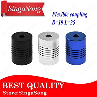 4//5//6//6.35//8//10mm Rigid Shaft Coupling Coupler 3D Printer 25mm CNC