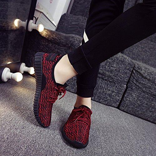 Rouge Mode Sport Confortable Chaussures Respirant Casual Sneakers Légère Hommes de H6TzwT