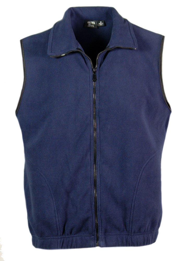 Akwa Men's Microfleece Full Zip Vest