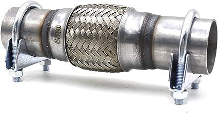 Cnspeed 5,1/x 20,3/x 30,5/cm de voiture d/échappement Tube flexible Bellows 201/en acier inoxydable double Tresse connecteur Ripple Sliver