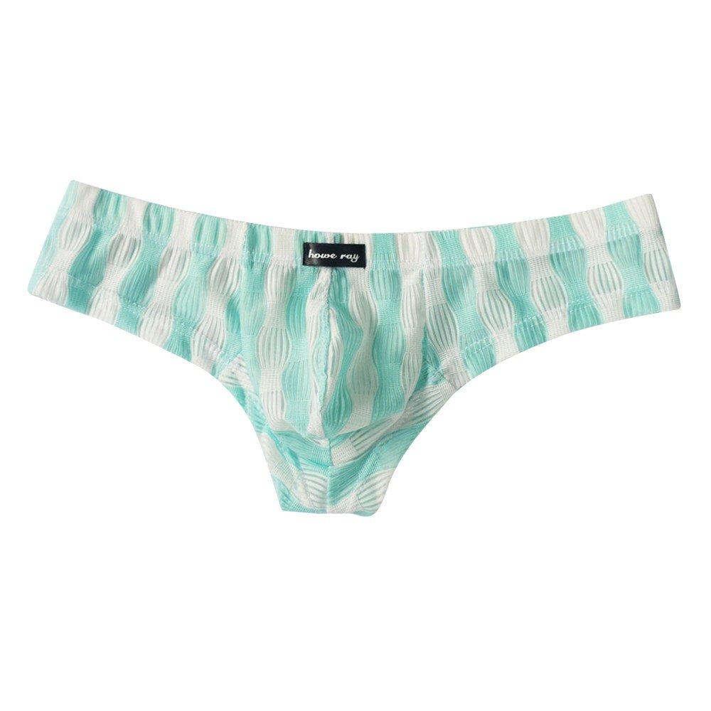 YAliDa 2019 clearance sale Men Underwear Sexy Comfortable Breathable Underpant Nightwear Sleepwear (,Light Blue)