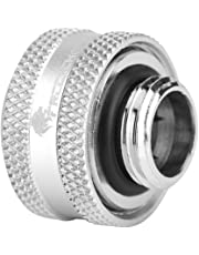 Richer-R 4 Pcs / 6 Pcs Water Cooling Compression Fitting for Rigid Acrylic Tube OD 14mm(4X Silver)