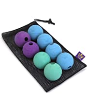 "Chew King Fetch Balls Extremely Durable Natural Rubber Toy 2.5"", 8-Pack"