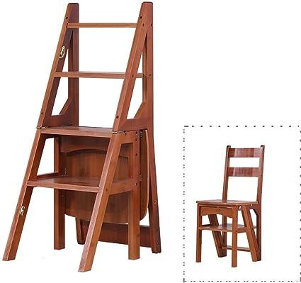 Doble finalidad taburete de paso, bambú/madera escaleras de tijera jardín de infancia/escuela Silla taburete de jardín Estante Estantería de aislamiento: aislamiento completo (Color: C-2, tamaño:: Amazon.es: Coche y moto