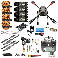 DIY 2.4GHz 4-Axis Drone Quadcopter RC Drone 630mm Carbon Fiber Frame Kit MINI PIX+GPS Brushless Motor ESC Altitude Hold Kit (ARF with Flysky TX)