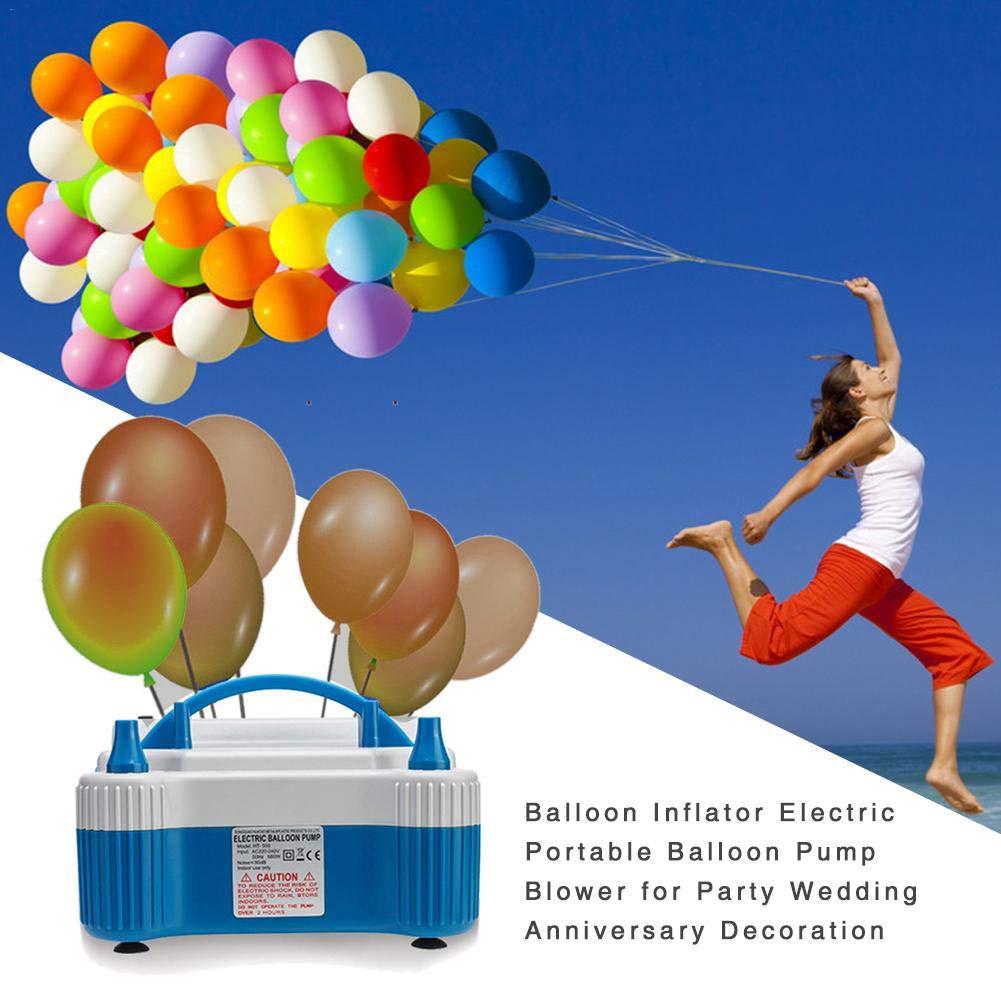 Ballon-Pumpen-Gebl/äse f/ür Partei-Hochzeitstag-Dekoration domiluoyoyo Tragbarer elektrischer Ballon-Inflator